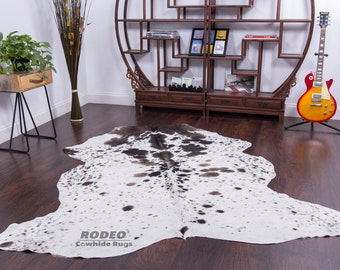 New Large Snowy/Dark Brown Superior Quality Hairy Rug 6.1X6.1-1228