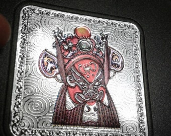 Six Chinese drink coasters featuring deities , nice tableware collectible boxed item.
