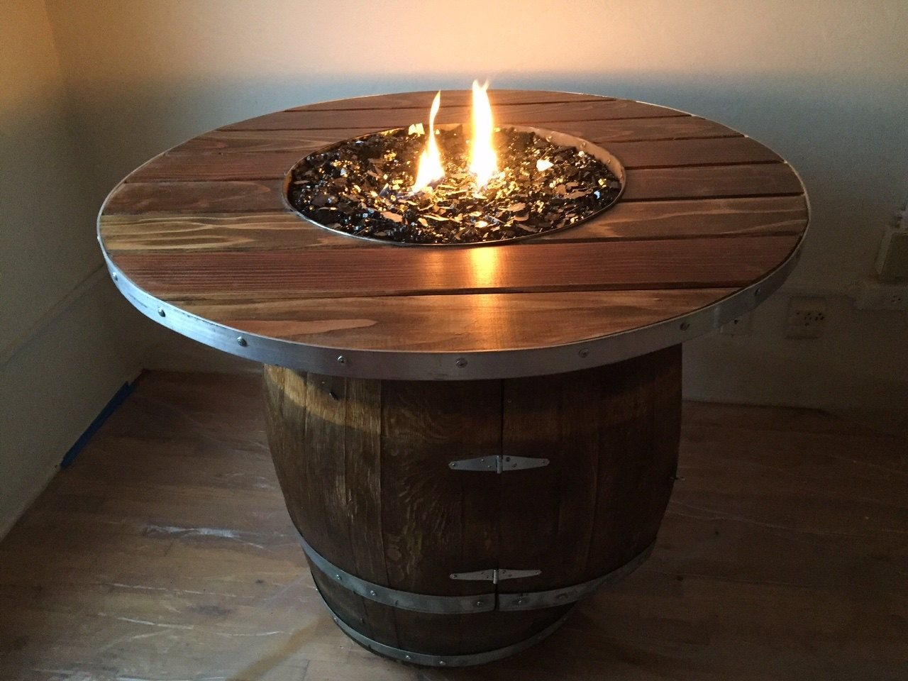 Authentic French Wine Barrel Fire Pit Whiskey Barrel Fire Pit