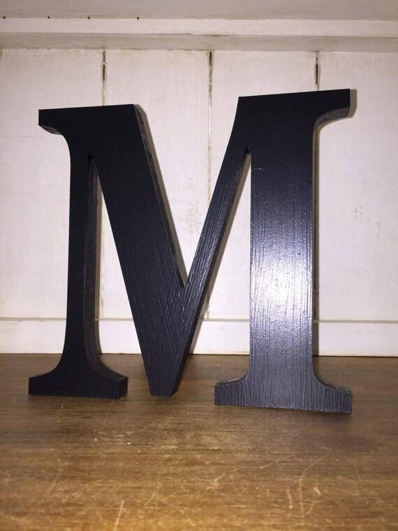 Black large letters painted wooden letters 20cm by for Large black wooden letters