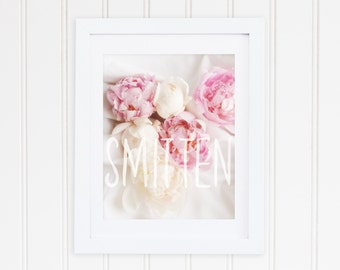 Peonies and Watercolour - Smitten - Peony Print