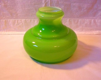 70s Glass lampshade / Company Honsel / For petroleum or electrical hanging lamps