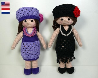 Coco doll, amigurumi crochet pattern