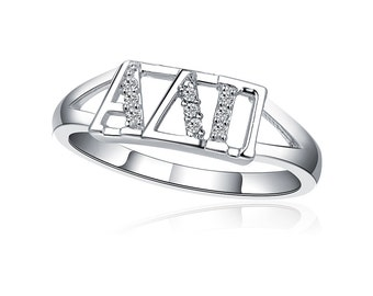 Alpha Delta Pi Ring - Horizontal Sterling Silver (ADP-R001)