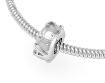 Zeta Tau Alpha Bead - Sterling Silver (ZTA-P006)