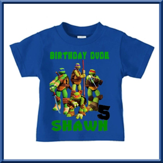 Ninja Turtles Birthday Shirt By Birthdaysgalore On Etsy
