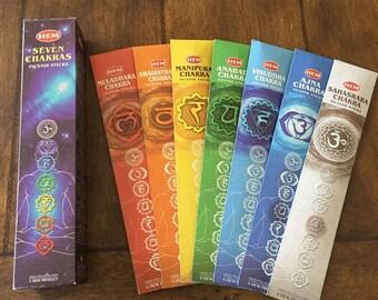 Item 122, Incense, Chakras, Chakra, Meditation, candles, chakra incense