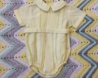 Yellow Pleated Romper 9 Months