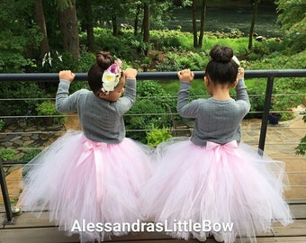 flower girl tutu skirt floor lenght tulle skirt long tutu flower girls tutus custom tutu flower girl tutu dress toddler girls tea party tutu