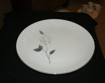 Fine China of Japan  Enchanted Rose 12 inch round serving platter
