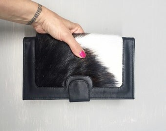Leather Cowhide Wallet, Travel Wallet, Oversized Travel Wallet called Kym.