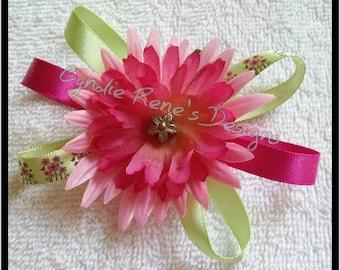 Ribbon/flower hair clip