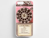 Pink Vintage Telephone iPhone 6 Case iPhone 6s Case iPhone 6 Plus Case iPhone 6s Plus Case iPhone 5s Case iPhone 5 Case iPhone 5c Case