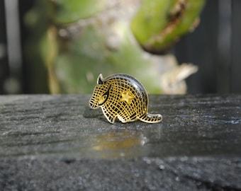 Vintage Armadillo Lone Star Pin