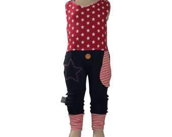 Romper red star * sizes 50-80