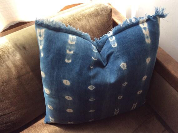 Handmade Mali Indigo Mud Cloth Pillows.  *4