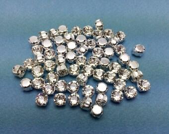 Chaton Montees - 16ss - 4mm diameter - Crystal Diamantes - 10 pieces