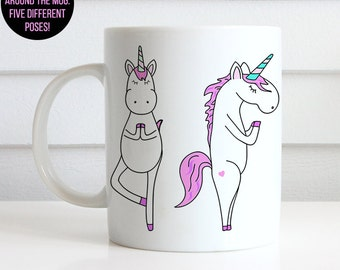Coffee Mug Unicorn Yoga Poses Coffee Cup