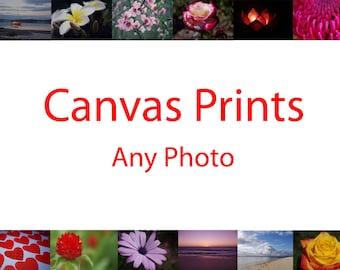 Canvas prints - Choose any photo