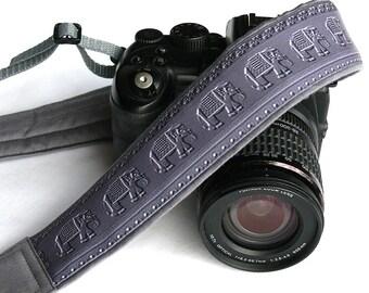 Elephants Camera Strap. Gray Camera Strap.  DSLR Camera Strap. Canon, Nikon Camera Strap. Animal Camera Strap. Christmas Gift. Accessories