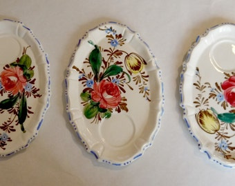 Set of 3 serving tray floral pattern made in Italy