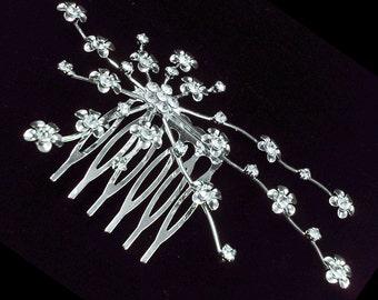 Crystal Daisy Flower Hair comb