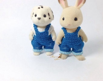 Calico Critters/ Sylvanian Families Crochet Clothes/ Outfit for Dad/ Mum Made to Order #1002&2004
