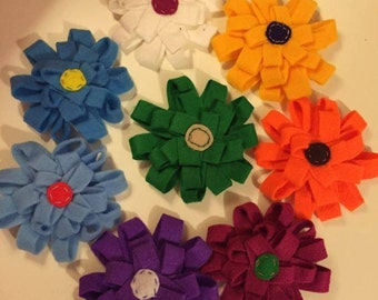 Felt Flowers for Dog Collars - available in range of colours. approx. 3.5in sq'