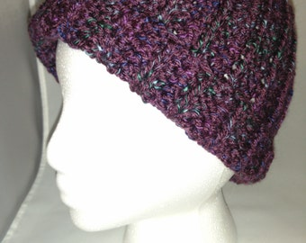 Plum ribbed hat