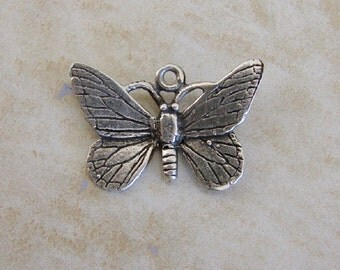 Butterfly Insect Spring Garden Sterling Silver Bracelet Charm Vintage