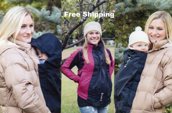 Maternity Coat Extender Babywearing Cover And Easy On Hood