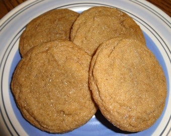 Homemade Ginger Cookies - Crispy on the Outside and Soft on the Inside (2 Dozen)