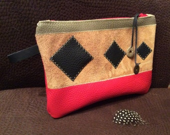 Cover Kit red leather and diamond