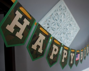 Army Birthday Party Banner