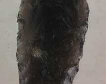 Antique Native American Black Stone Spear Tip Tool Weapon