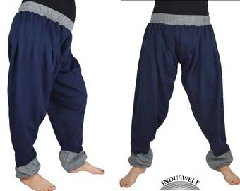 Fleece Harem Pant dark blue