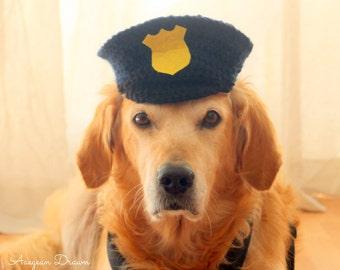 Police Dog Hat, Dog Halloween Costume, Police Officer Dog Outfit, Police Hat for Dogs, Large Dog Costume Ideas, Police Dog Costume