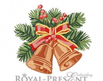 Machine Embroidery Design - Vintage Christmas bells