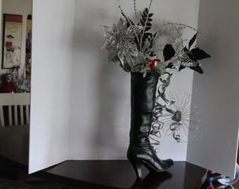 Christmas Boot Arrangement