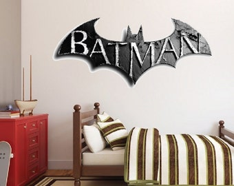 Beau Batman Decal, Batman Wall Decal, Batman Wall Design, Arkham Batman Wall  Mural,