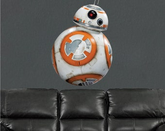 BB8 Decal, BB8 Wall Decal, BB8 Star Wars Droid Decal, BB8 Wall Design, BB8 Droid from Star Wars, BB8 Wall Cling, Star Wars Design, b12