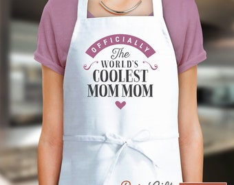 MomMom Gift, Birthday Gift For MomMom! Funny Apron, Coolest MomMom, Cooking Gift, Awesome, Personalized, Present For MomMom, MomMom Shirt