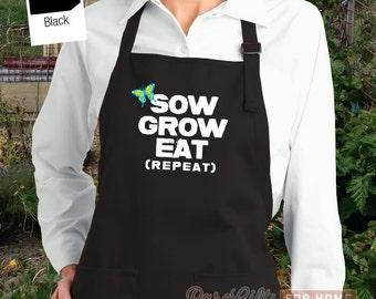 Gardening Apron, Gardening Gift, Gardener Gift, Garden Apron, Garden Tools, Farmhouse Aprons, Country Apron, Womens, Mens Apron, Funny