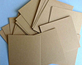 25 kraft paper cards 3 x 3 square cards flat note cards blank cards thank you cards gift cards note cards diy cards diy weddings invitations