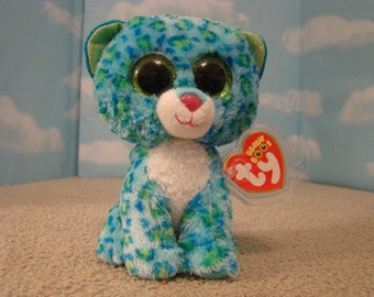 Leona Blue Green Spotted Leopard