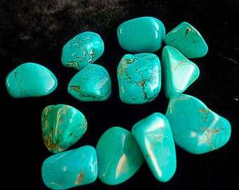 natural turquoise, polished stone, polished stone, size 10-20 mm, 25 gram