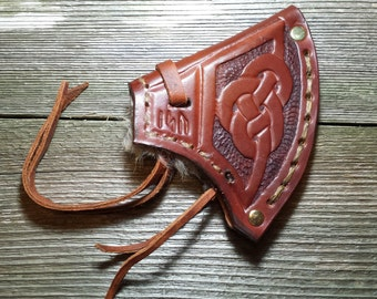 Leather Throwing Ax Sheath