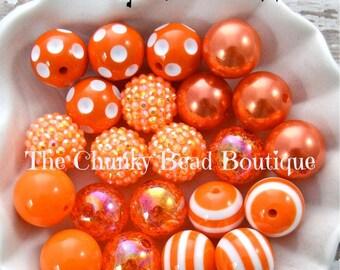 20mm orange bead assortment