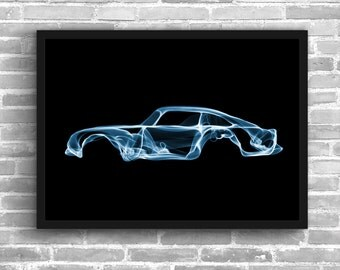 Aston Martin DB5 Aston Martin Art Wall Art Classic Car Man Cave Gift For Him Automotive Art DB5 Art Car Art Home Decor Aston Décor