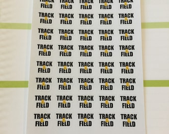 Track & Field Planner Stickers